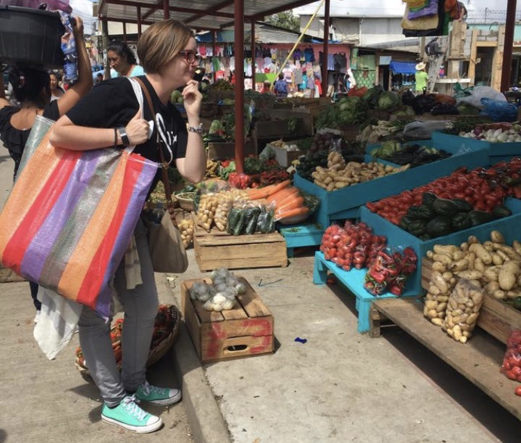 My first visit to a market